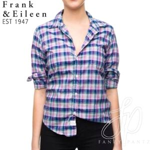 Frank & Eileen Barry Shirt button down plaid small